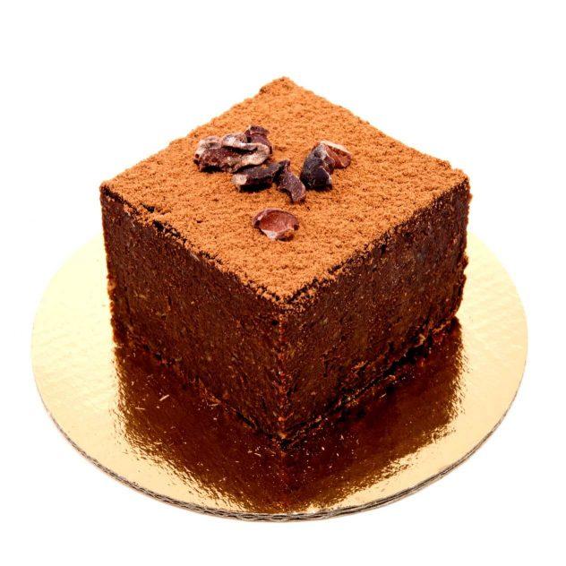 brownie crudista al cioccolato crudo - grezzo raw chocolate