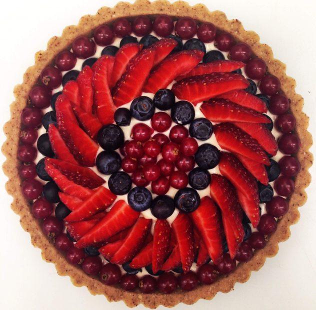 crostatina crudista alla frutta