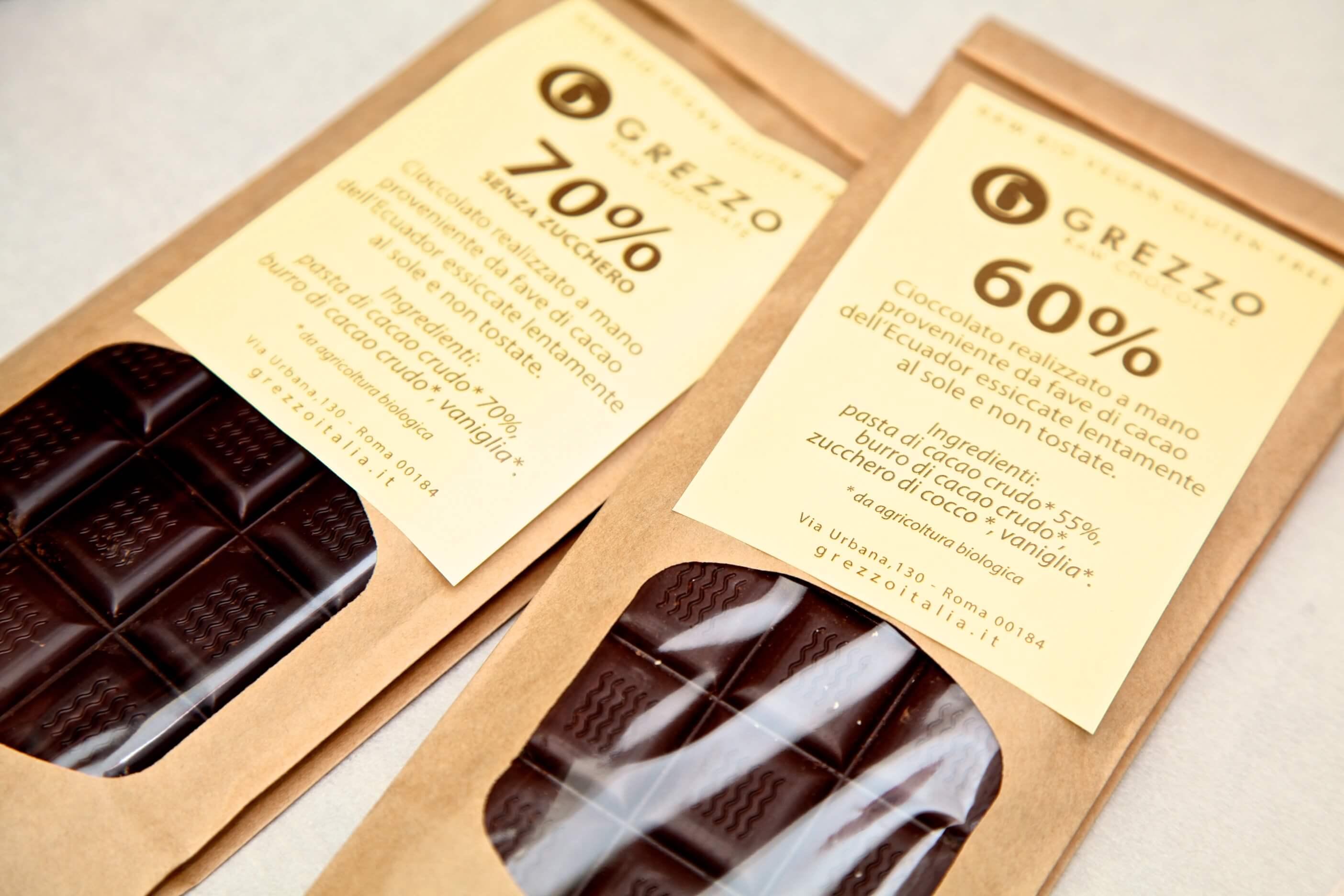 Tavolette di Cioccolato Crudo - Grezzo Raw Chocolate