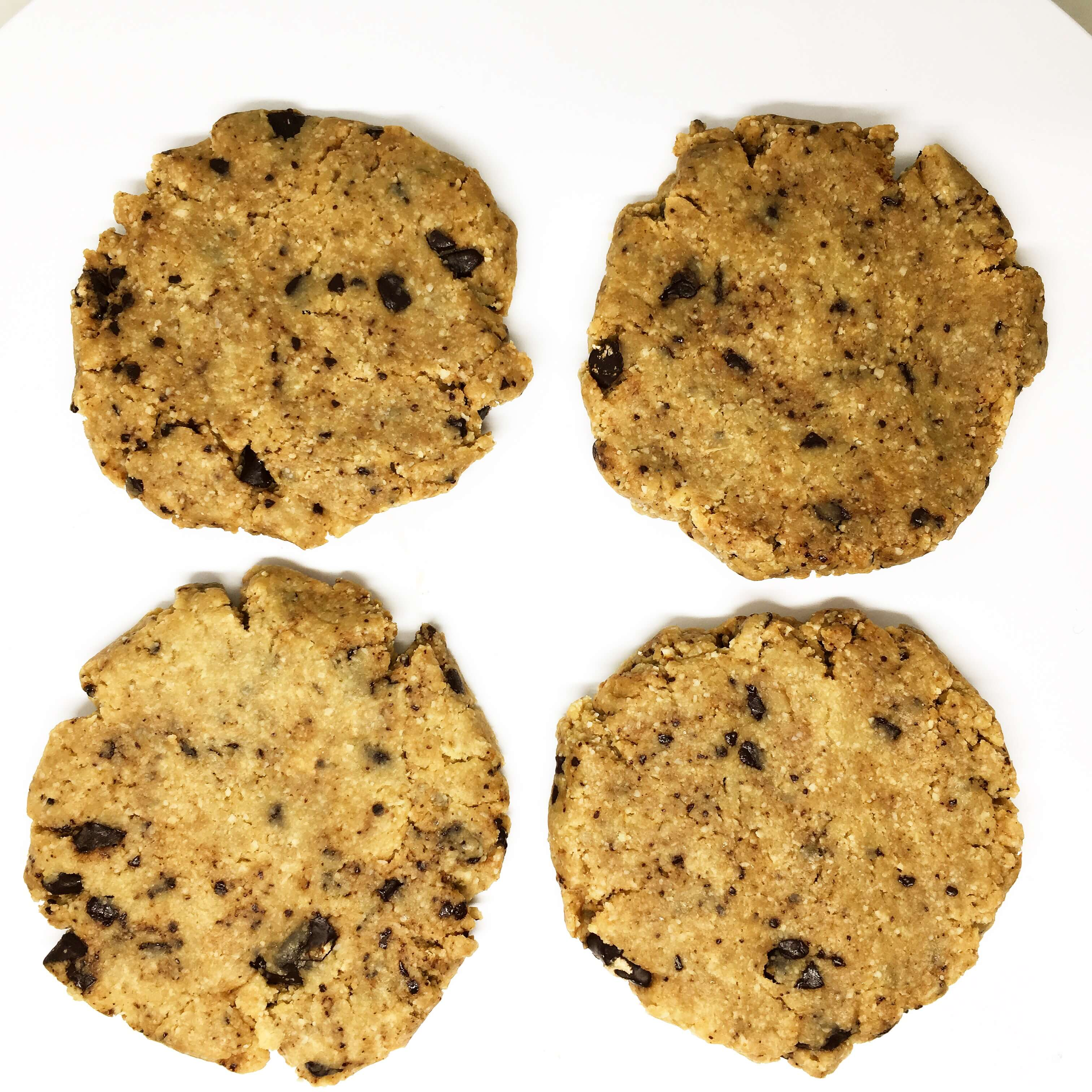 raw chocolate chip coockie - farina d'avena e cioccolate crudo by grezzo raw chocolate