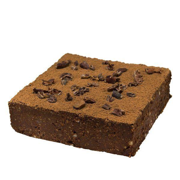 brownie con cioccolato crudo e nocciole by Grezzo Raw Chocolate