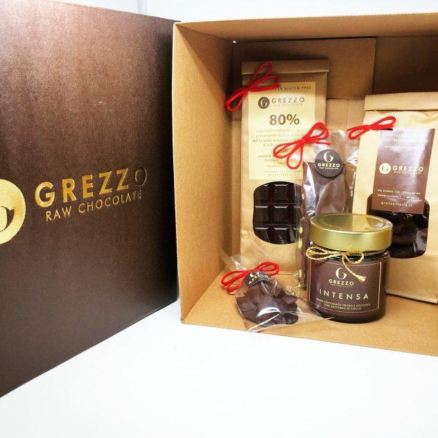 Box Regalo di Natale Normale Grezzo Raw Chocolate