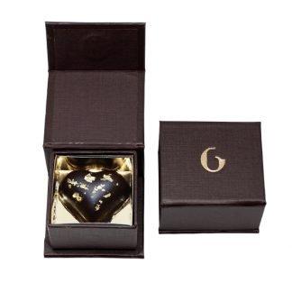 Cioccolatino cuore oro e cioccolato crudo - Grezzo Raw Chocolate