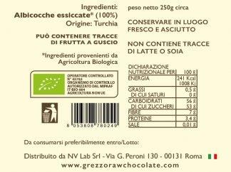 Albicocche essiccate bio - core nutrition - grezzo raw chocolate