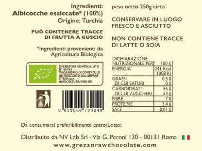Albicocche essiccate bio - core nutrition - grezzo raw chocolate