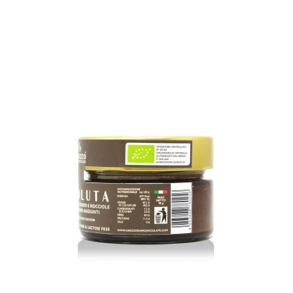 Assoluta - crema spalmabile cioccolato crudo e nocciole senza zuccheri e dolcificanti
