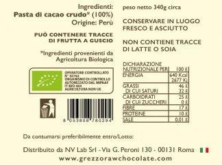 pasta di cacao biologica Perù